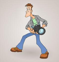 Paparazzi Photographer vector image vector image