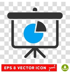 Pie chart demonstration eps icon vector