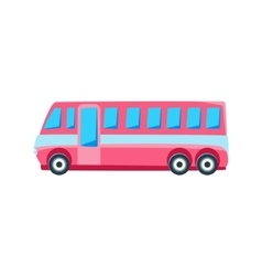 Pink Public Bus Toy Cute Car Icon vector image vector image