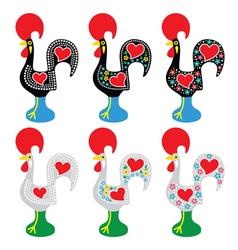 Portuguese rooster of barcelos - galo de barcelos vector