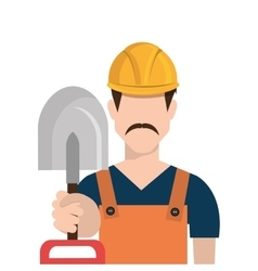 repairman character working icon vector image