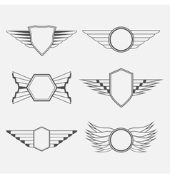 Retro Vintage Logotypes with wings vector image vector image