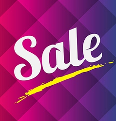 Sale text on abstract background vector
