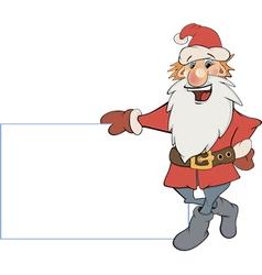 Santa Claus with an empty blank cartoon vector image vector image