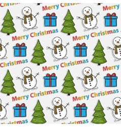 seamless Christmas patternsticker vector image vector image