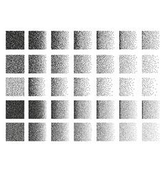 Set of 35 square stipple pattern for design Tile vector image