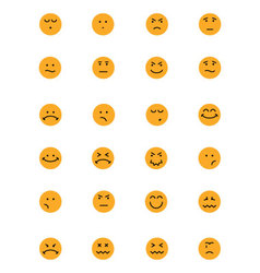 Smiley colored icons 4 vector