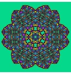 Unusual mandala art - chakra symbol ocer green vector