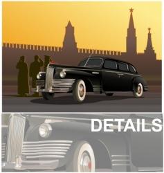 vintage limousine vector image vector image