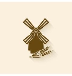 windmill baking symbol vector image vector image
