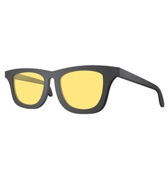 Yellow glasses vector