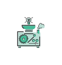 Idea machine icon vector