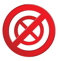 Sign forbidden circle vector