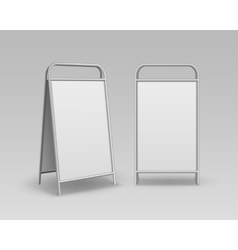 Set of advertising street handheld stands signs vector