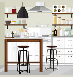 Modern kitchen vector