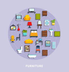 furniture concept vector image