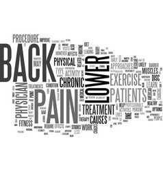 Is lower back pain a barrier to your fitness vector