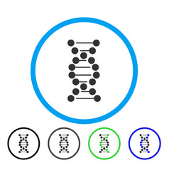 dna spiral rounded icon vector image