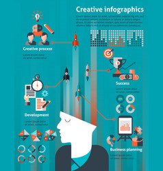 Creative infographic set vector