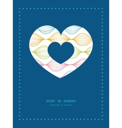 Colorful horizontal ogee heart symbol frame vector