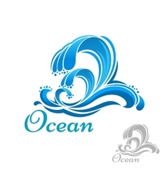 Sea wave or surf symbol vector
