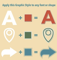 Stitched graphic styles vector