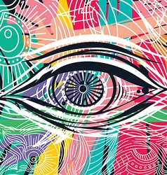 Horus eye abstract art vector