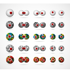 Biological cells set vector