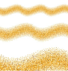 Gold glittering wave vector