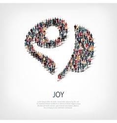 Joy people sign 3d vector