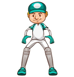 A simple sketch of a cricket player vector