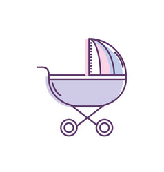 baby stroller tool to baby relax vector image
