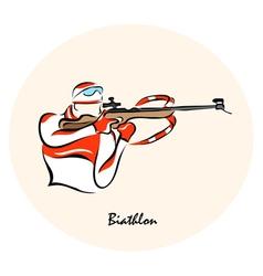 Biathlon sport vector image