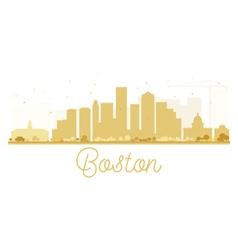 Boston city skyline golden silhouette vector