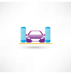 Car refueling vector image vector image