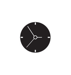 clock solid icon time and watch graphics vector image vector image