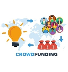 Crowdfunding steps concept vector