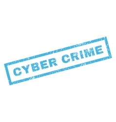 Cyber crime rubber stamp vector