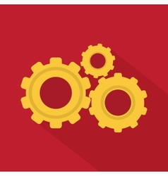 Flat Style Icon with Long Shadow vector image vector image