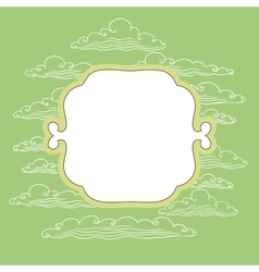 Frame with background vector image