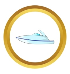 Little powerboat icon vector