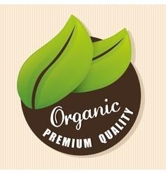 Organic natural food label vector image
