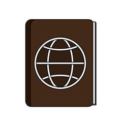 passport icon image vector image