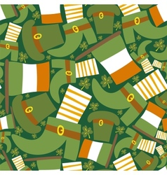 Saint Patricks day green seamless pattern vector image vector image