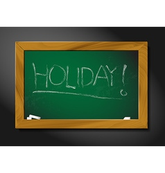 school blackboard - holiday vector image vector image