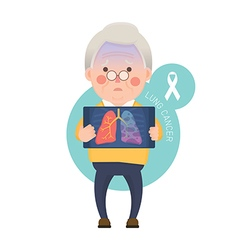 Senior Man have Lung Cancer vector image