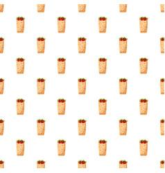 Shawarma pattern vector
