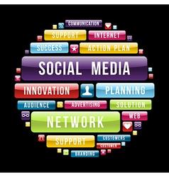 Social media concept circle vector image vector image