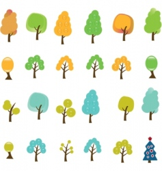 trees signs vector image