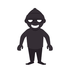 Robber thief criminal vector